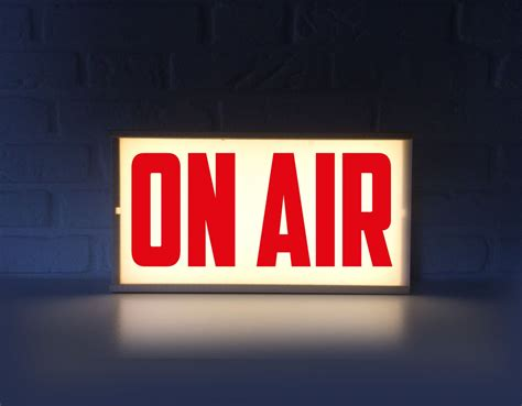 On Air In on air lighted sign on air sign with letters lightbox