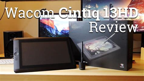 tutorial wacom cintiq 13hd wacom cintiq 13hd pen tablet display review funnydog tv