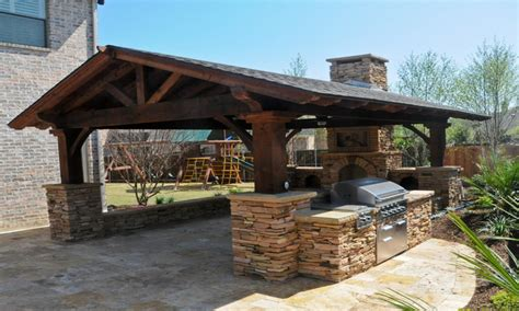 rustic outdoor kitchen ideas covered patio roof designs rustic outdoor living area