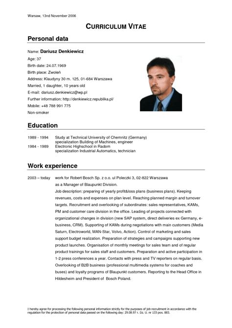 Modelo Curriculum Vitae Michael Page Curriculo Vitae