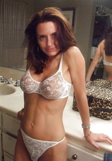 Milf Mature Mom Cougar Wife Slut Whore Lingerie Sheer Panties Bra Lingerie