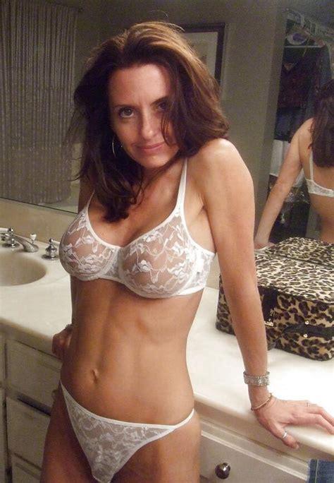 Milf Mature Mom Cougar Wife Slut Whore Lingerie Sheer Panties Bra Lingerie