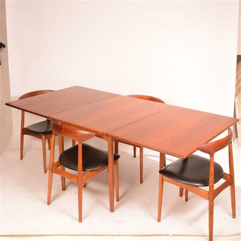 Modern Drop Leaf Table Mid Century Modern Drop Leaf Dining Table By Hans C Andersen For Sale At 1stdibs