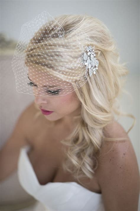 Wedding Hairstyles Hair Birdcage Veil by 36 Beautiful Hairstyles To Rock With Veils Weddingomania