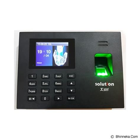 Solution X606 Mesin Absensi Finger Print jual solution mesin absensi x105 id murah bhinneka