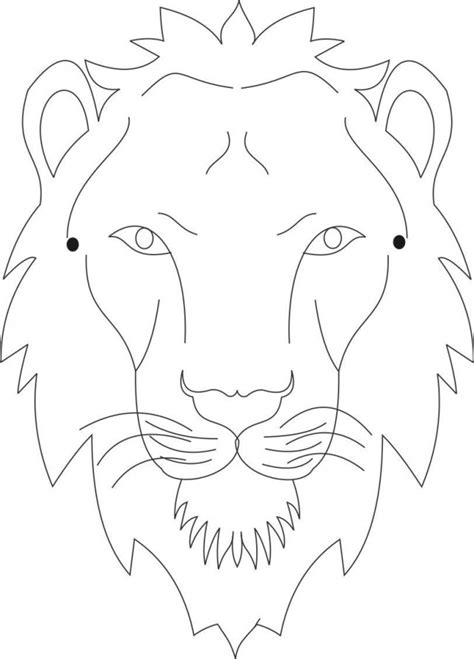 lion face coloring page az coloring pages