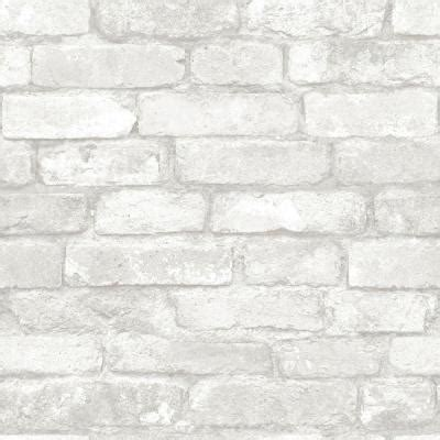 grey wallpaper home depot nuwallpaper 30 75 sq ft grey and white brick peel and