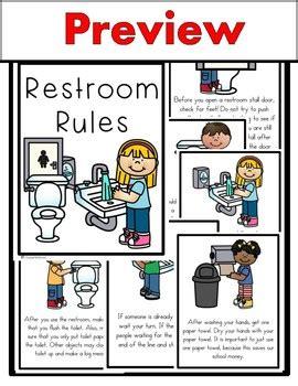 School Bathroom Laws Restroom Class Book Beginning Of School Bathroom Tpt