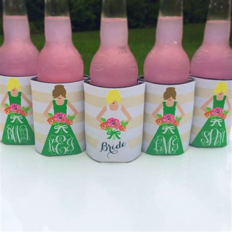 Gallery Kitchen Ideas Tan And Green Bridesmaid Koozies Perfect Way To Ask