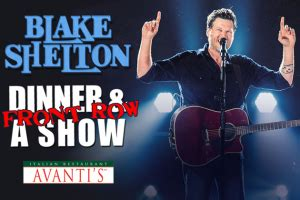 Blake Shelton Ticket Giveaway - win front row blake shelton tickets with dinner at avanti s b104 wbwn fm