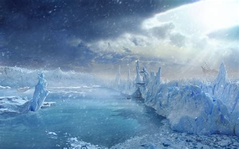 ice city arctic wallpaper 99331