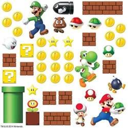 super mario bricks coins 45 big wall luigi nintendo decals nintendo super mario bros build a scene wall decals