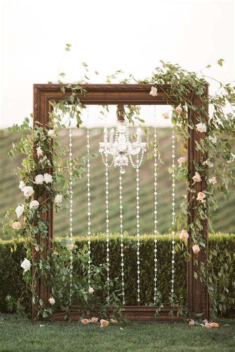 wedding backdrop with crystals 29 gorgeous ways to use frames for wedding decor