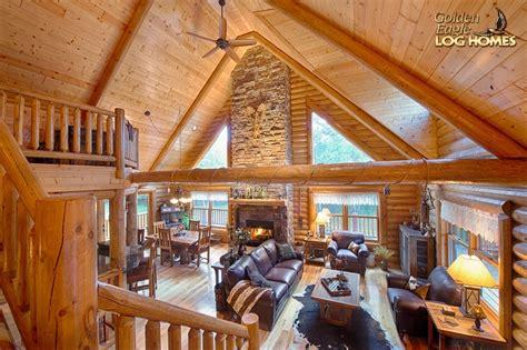 lofted log floor plan from golden eagle log homes