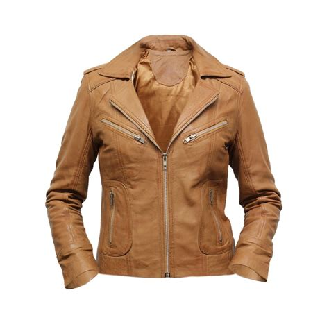 ladies brown leather biker ladies light brown leather jacket www pixshark com