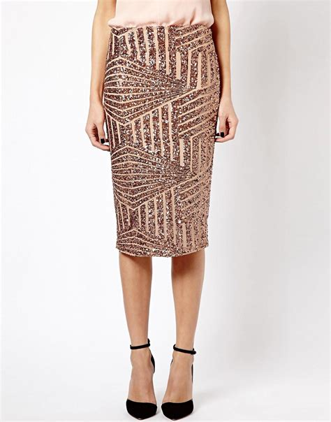 river island river island sequin pencil skirt at asos