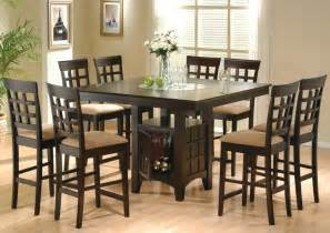 Bar Height Dining Room Table 9 Dining Room Set Table Counter Height Lazy Susan Ebay