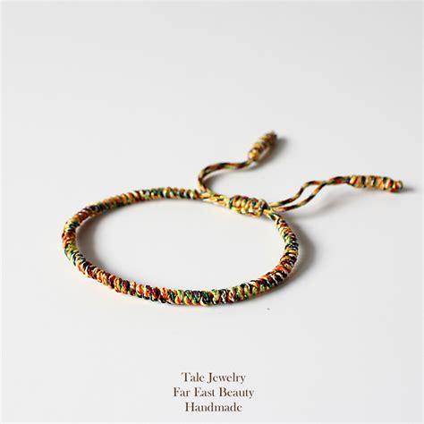 TALE Design 2016 Multi Color Tibetan Buddhist Handmade Knots Lucky Rope Bracelet Size Adjustable