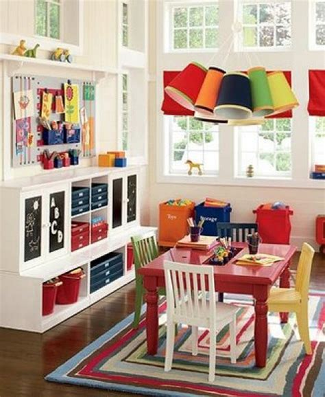playroom shelving ideas great shelves and colorful tables