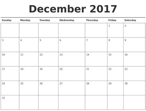 printable calendar 2017 december december 2017 calendar printable