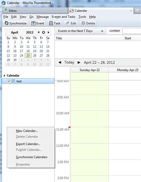 Calendar Sync Thunderbird Synchronize Calendar Mozilla Thunderbird