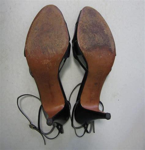 vintage italian heels strappy leather stilettos garolini