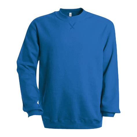 Plain Sweatshirt kariban mens plain crew neck sweatshirt ebay