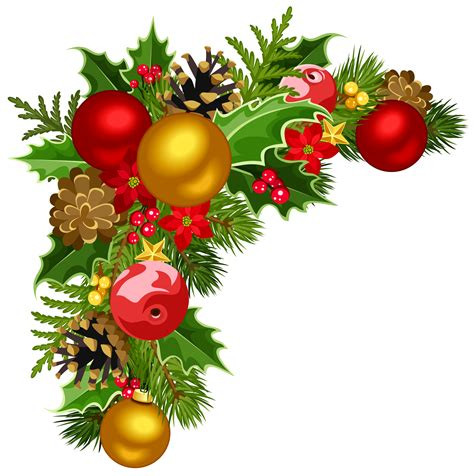 xmas swag png deco corner with tree decorations clipart gallery yopriceville high