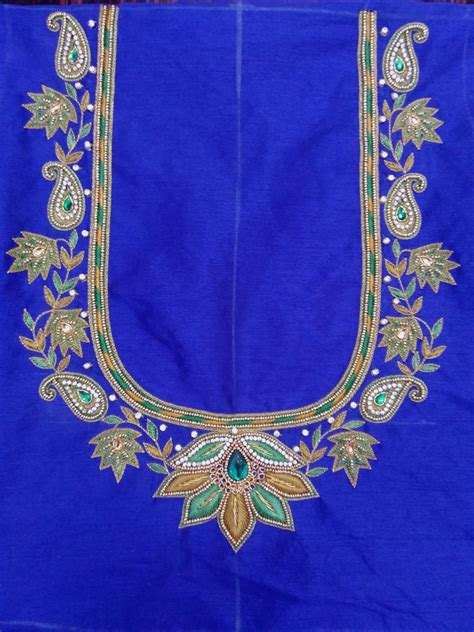 design for embroidery work indian traditional handloom sarees maggam work blouse