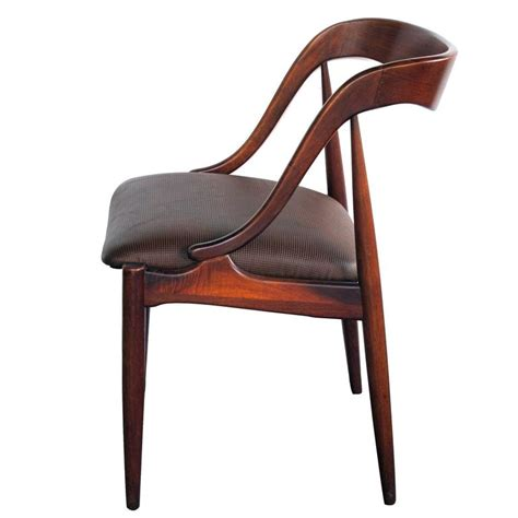 rosewood side chair sculptural modern rosewood desk side chair by