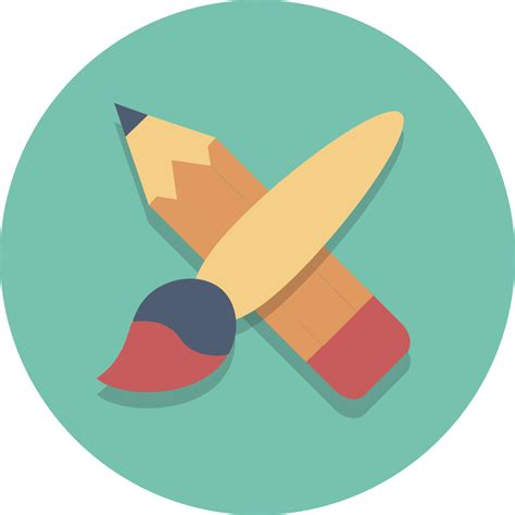 painting icon file circle icons brush pencil svg wikimedia commons