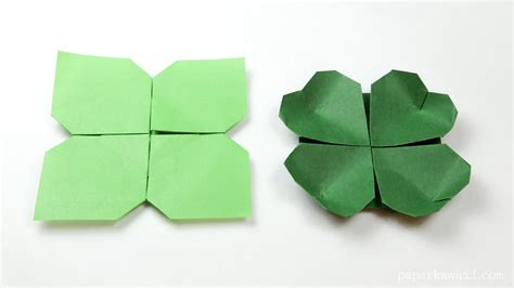 On Origami - origami clover flower paper kawaii