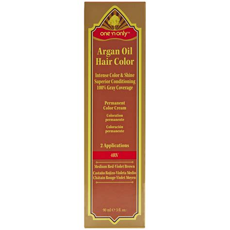 one n only argan oil hair color demi permanent glossing cream one n only a4rv medium red violet brown argan oil