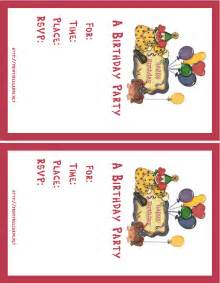 best sample free printable invitation cards birthday party