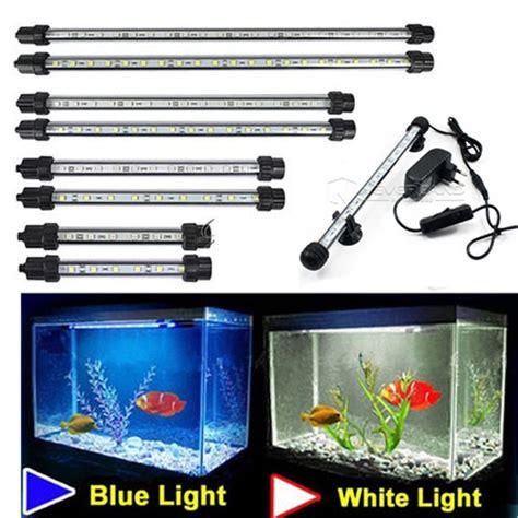 submersible led aquarium lights aquarium fish tank 9 12 15 21 led light blue white 18 28