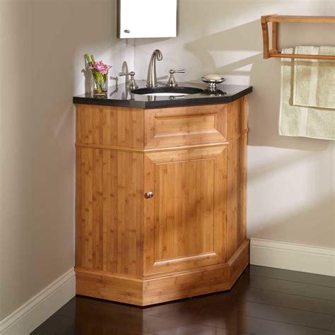 36 quot bridgemill corner bamboo vanity for undermount sink bathroom vanities bathroom