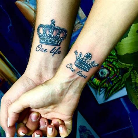 tattoo fonts king and queen 34 matching tattoos all will appreciate