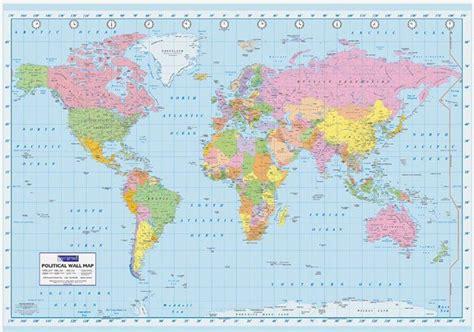 printable poster size world map mapa świata polityczna plakat plakaty