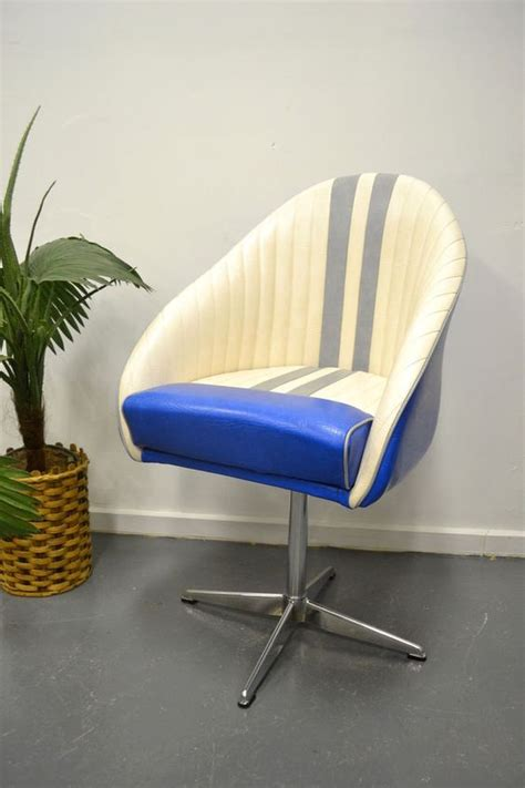 boat swivel chairs vintage retro swivel office chair boat chair vinyl kendall