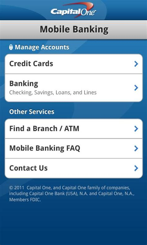 bank finder capital one releases android app pay bills view recent