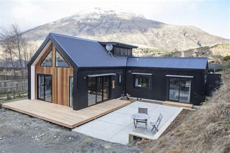 house design nz little black barn by built me