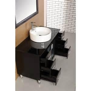 Malibu 48 inch single sink modern bathroom vanity in espresso finish