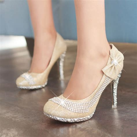Wedding Shoes With Bows by High Heeled Wedding Shoes With Bows And Ipunya