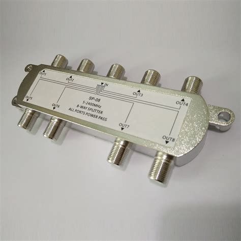 Spliter 8 Way Gs01 08 sp 08 8 way signal satellite splitter tv aerial rf coaxial cable splitter wholesalehot new