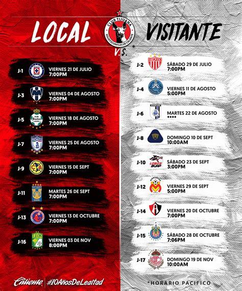 Calendario De Xolos Calendario De Xolos Para El Apertura 2017