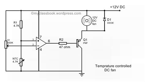 ntc thermistor signal conditioning temperature controlled dc fan using thermistor mini project myclassbook