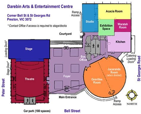 Centre Bell Floor Plan Darebin Arts Centre Centre Floor Plan