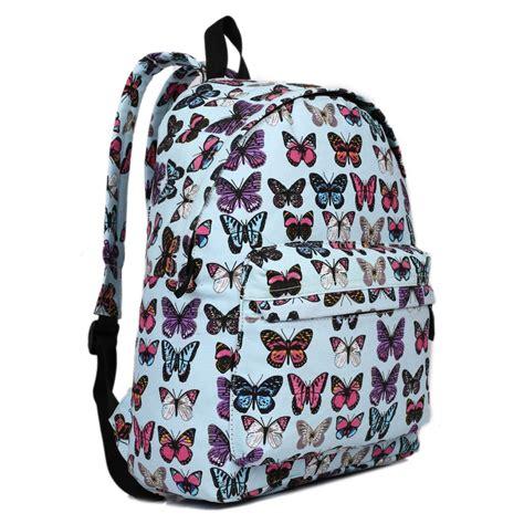 e1401b miss lulu large backpack butterfly blue