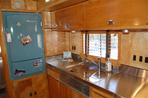 Woodwork Kitchen Designs by Vintage Trailer Interiors From The 1940 S From Oldtrailer Com