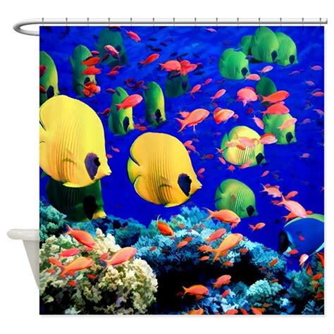 tropical fish shower curtain undersea coral tropical fish shower curtain by